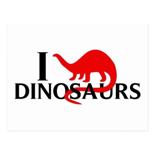 I Love Dinosaurs Postcards