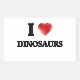 I love Dinosaurs Rectangular Sticker