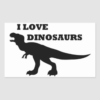 I Love Dinosaurs! Rectangular Sticker