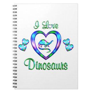 I Love Dinosaurs Spiral Notebook