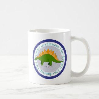 I Love Dinosaurs Stegosaurus Blue Mugs