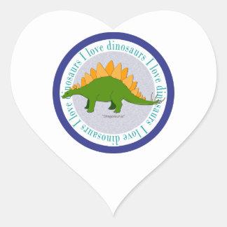 I Love Dinosaurs Stegosaurus Blue Stickers