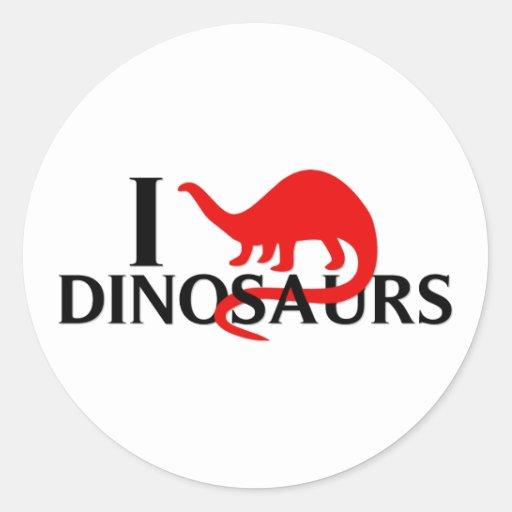 I Love Dinosaurs Stickers