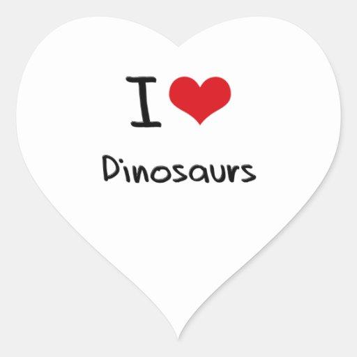 I Love Dinosaurs Heart Sticker