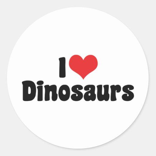 I Love Dinosaurs Sticker