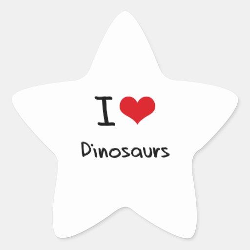 I Love Dinosaurs Star Stickers