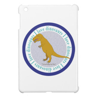 I Love Dinosaurs T-Rex Blue Cover For The iPad Mini