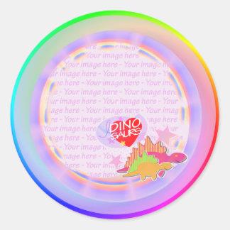 I love Dinosaurs Two Dino Rainbow Stickers