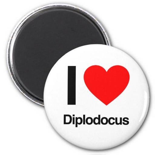 i love diplodocus fridge magnets