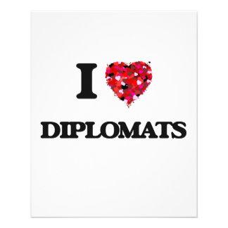 I love Diplomats 11.5 Cm X 14 Cm Flyer
