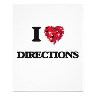 I love Directions 11.5 Cm X 14 Cm Flyer