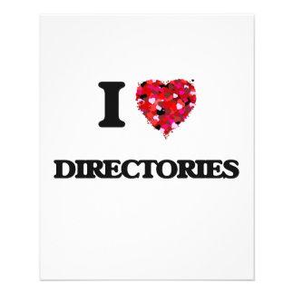 I love Directories 11.5 Cm X 14 Cm Flyer