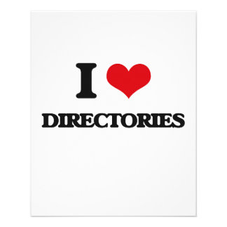 I love Directories Flyer Design