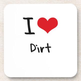 I Love Dirt Coasters