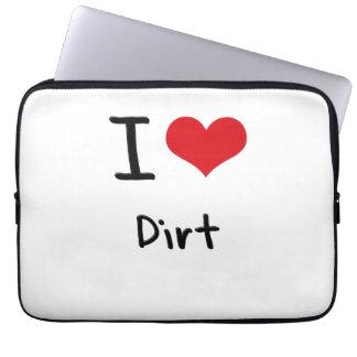 I Love Dirt Laptop Sleeve