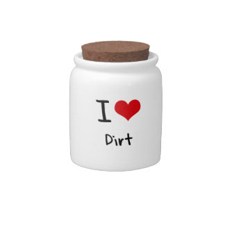 I Love Dirt Candy Jars