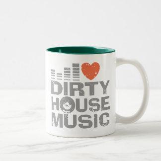 I Love Dirty House Music Coffee Mug