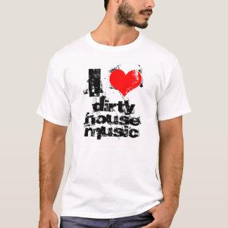 i love dirty house music tank