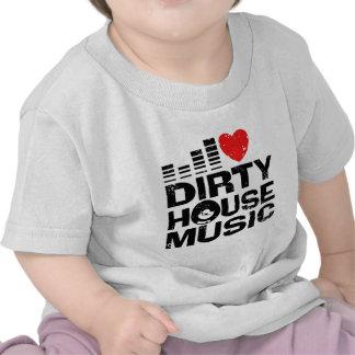 I Love Dirty House Music Tee Shirts