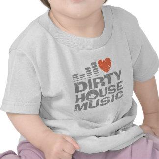 I Love Dirty House Music Tshirts