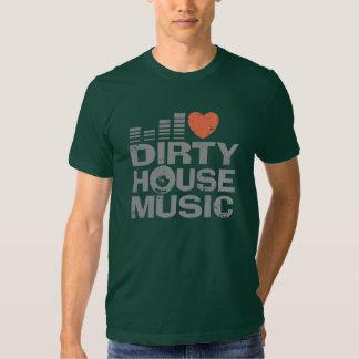 I Love Dirty House Music Tshirt