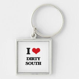 I Love DIRTY SOUTH Key Chains
