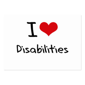 I Love Disabilities Pack Of Chubby Business Cards