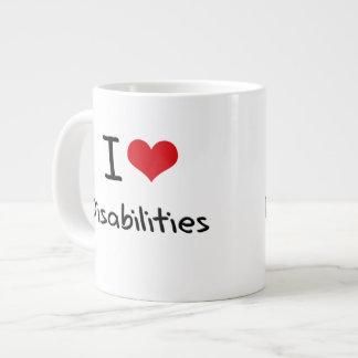 I Love Disabilities Extra Large Mugs
