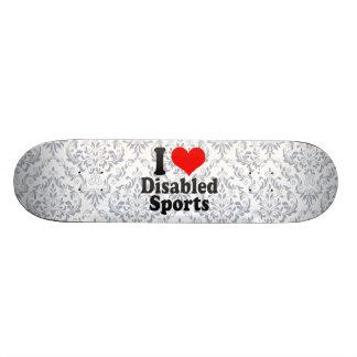 I love Disabled Sports 20.6 Cm Skateboard Deck