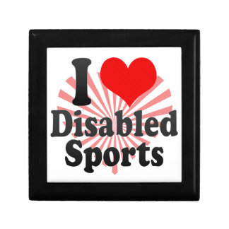 I love Disabled Sports Trinket Boxes