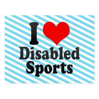 I love Disabled Sports Post Cards