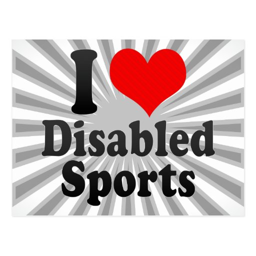 I love Disabled Sports Post Card