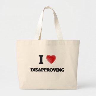 I love Disapproving Jumbo Tote Bag