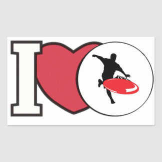 I Love DISC GOLF sticker