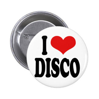 I Love Disco 6 Cm Round Badge