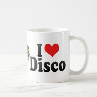 I Love Disco Basic White Mug