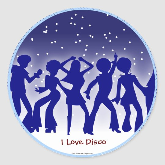 I Love Disco Classic Round Sticker