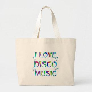 I Love Disco Large Tote Bag