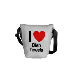 i love dish towels messenger bags