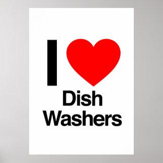 i love dish washers posters
