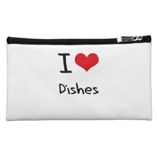 I Love Dishes Cosmetics Bags