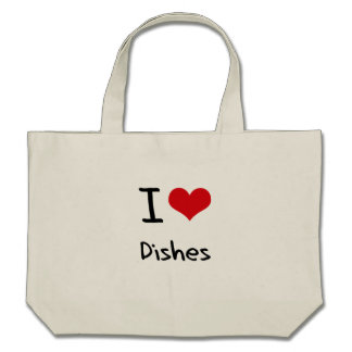 I Love Dishes Tote Bags