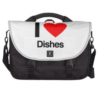 i love dishes laptop messenger bag