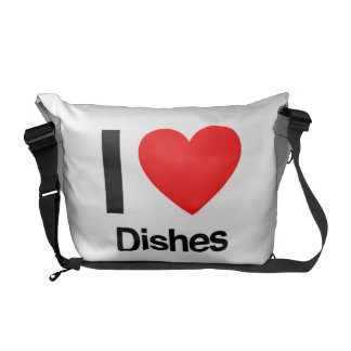 i love dishes courier bags