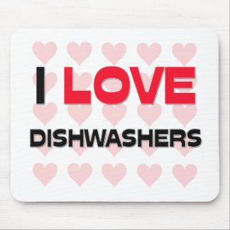 I LOVE DISHWASHERS MOUSE PADS