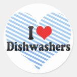 I Love Dishwashers Stickers