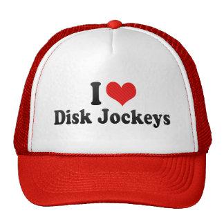 I Love Disk Jockeys Hats