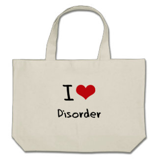 I Love Disorder Tote Bags