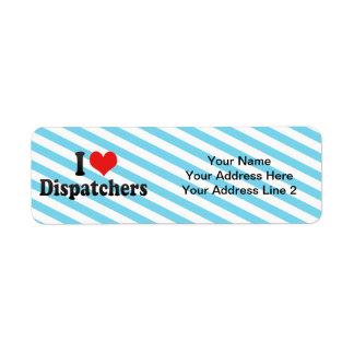 I Love Dispatchers Return Address Label