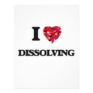 I love Dissolving 21.5 Cm X 28 Cm Flyer